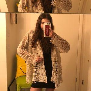 Johnny Was Crochet Jacket
